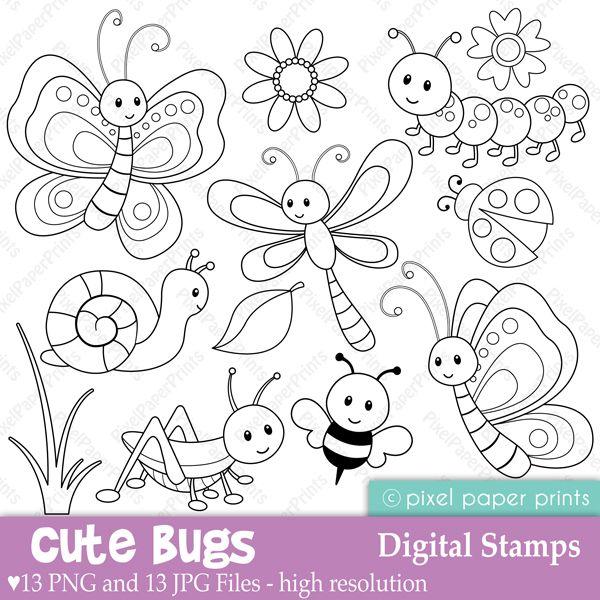 mariposa,libélula,caracol,aveja.Dibujos