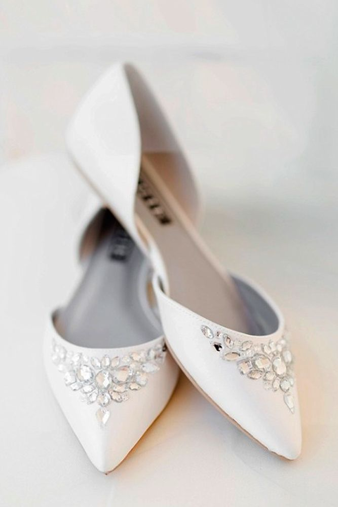 043023ecdd14 27 Flat Wedding Shoes For Lovers Of Comfort  amp  Style ❤ flat wedding shoes  white