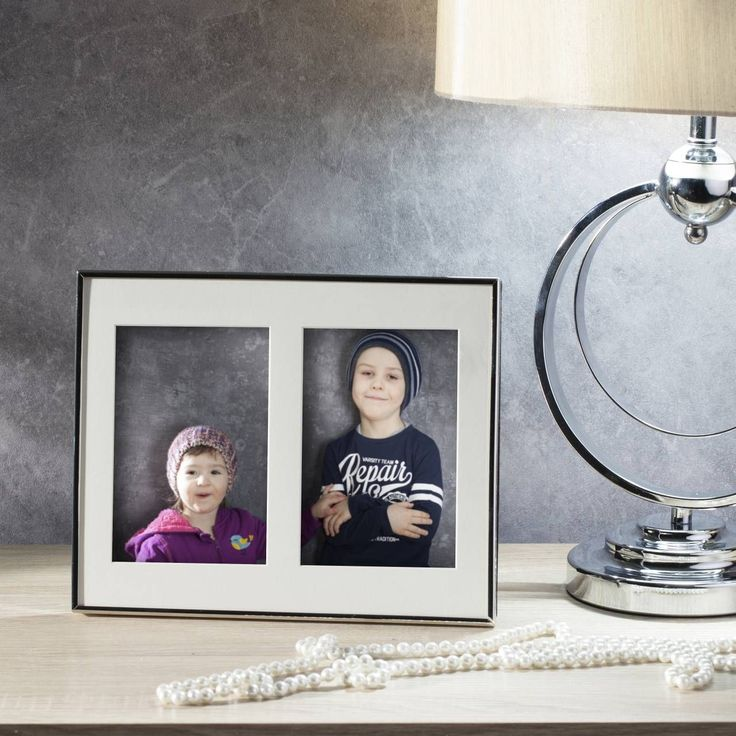 #ramka #photo #picture #frames #family #decoration #home #dekoracje Ramka Amanda duo 20x1,5x25,5cm silver, 20x1,5x25,5cm - Dekoria