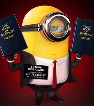 "Minion Missionary :D ""LDS Minnionary"" with ""an eye"" single to the glory of God. : )"