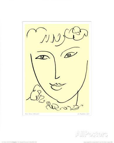 La Pompadour, vers 1951 Posters par Henri Matisse sur AllPosters.fr