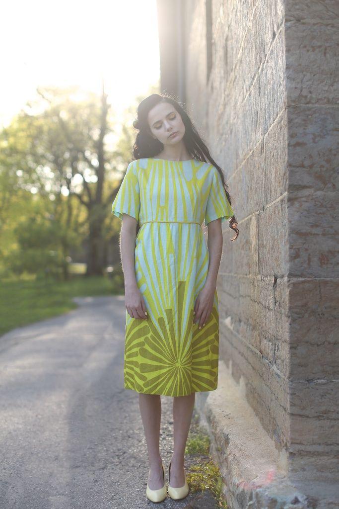 EVIG VINTAGE SS14 lookbook - 60s pshychedelic dress /// Model - Barbro Andersen Photo - Lisa Lindoe Hair and Make up - Karoline K Edquist Styling - Eirin Pedersen