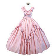 steampunk®gothic rosa Bürgerkrieg südliche Schönheit Lolita Ballkleid Kleid Halloween-Party-Kleid