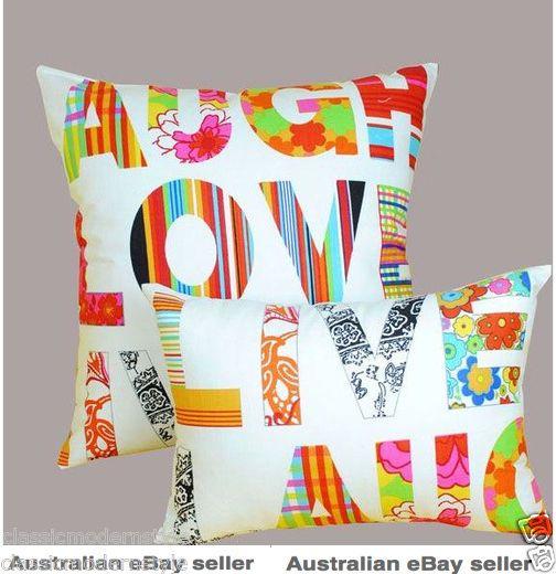 50x50cm large laugh love live cushion covers home decor online australia - Home Decor Australia