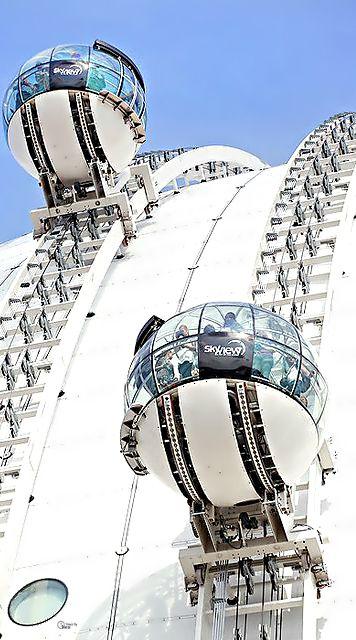"Gondola lift, ""SkyView"", Ericsson Globe, Stockholm.                                                                                                                                                                                 More"