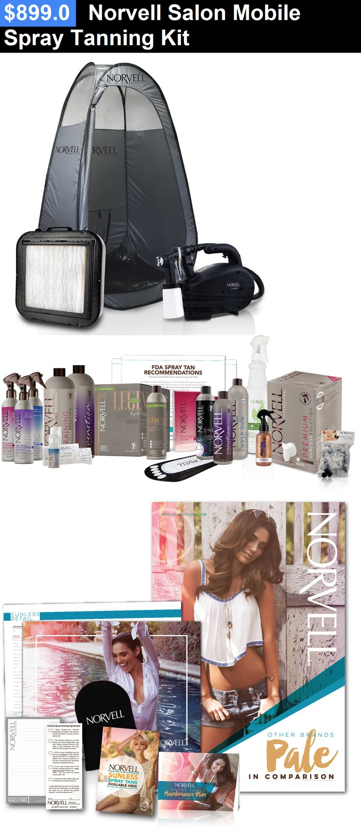 Airbrush Tanning Kits: Norvell Salon Mobile Spray Tanning Kit BUY IT NOW ONLY: $899.0