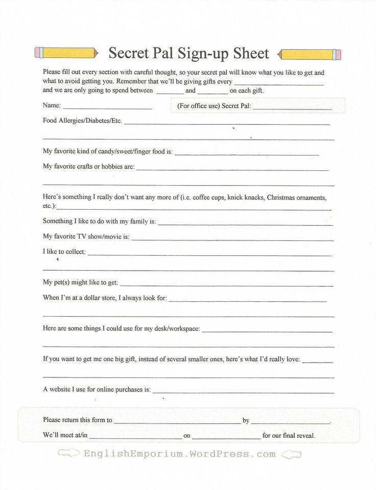 I get lots and lots of hits for my Secret Pal/Secret Santa sign-up sheet form.  So I didn't think it would hurt to re-post it as we approach the holiday season: I always appreciate when someone sho...