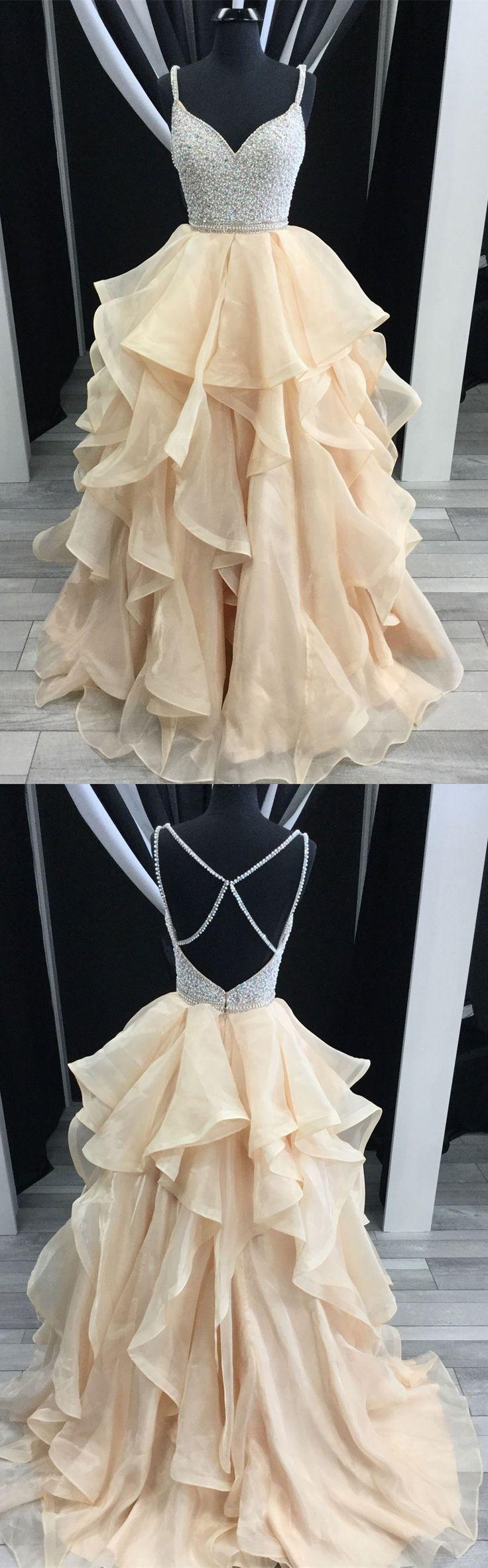 Organza skrit Prom Dresses,Shine Prom Dresses,Long Prom Dresses,Pageant Dresses,#sheergirl #prom