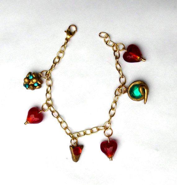 Princess Zelda Jewelry: Zelda Charm Bracelet Spiritual Stones And Heart By
