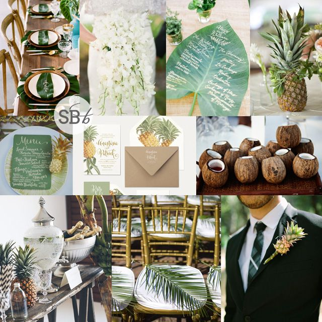 Love this tropical wedding inspiration board perfect for a destination wedding! | Inspiration Board: Tropical Elegance via @SouthBoundBride
