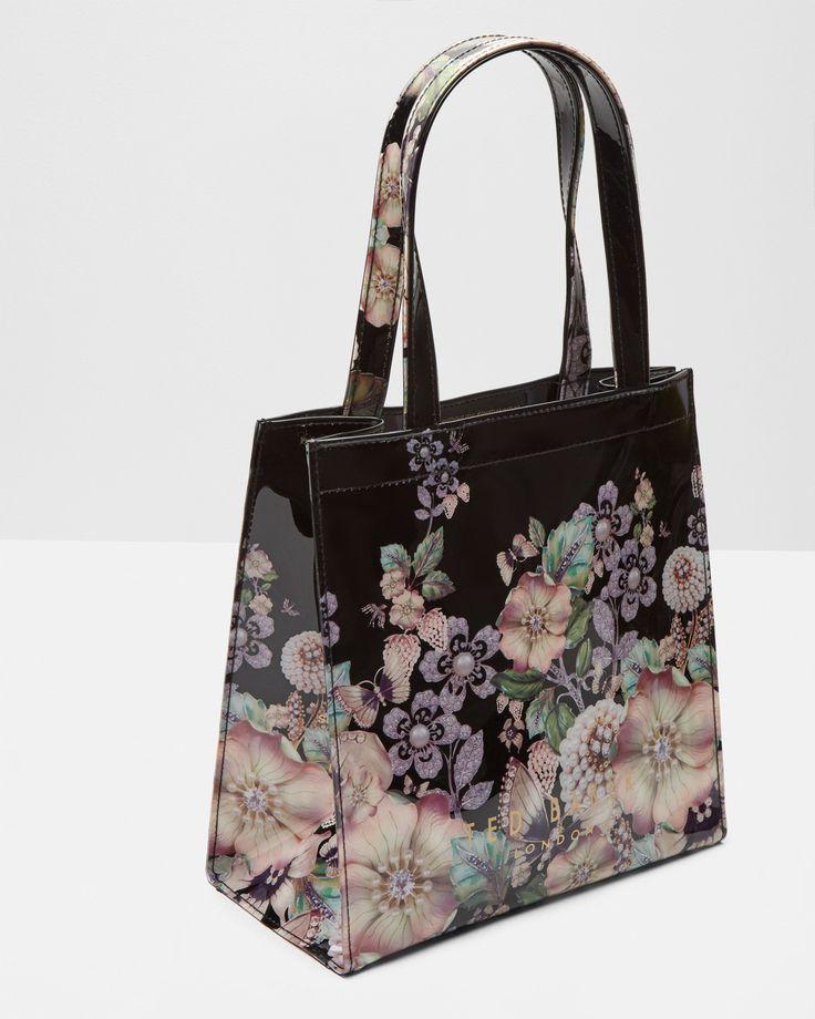 Gem Gardens small shopper bag - Black | Bags | Ted Baker UK