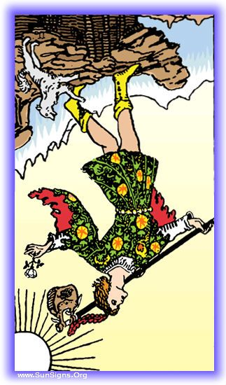 In the tarot meditation for the Fool in reversed position, you will see the warning against not heeding life's lessons.