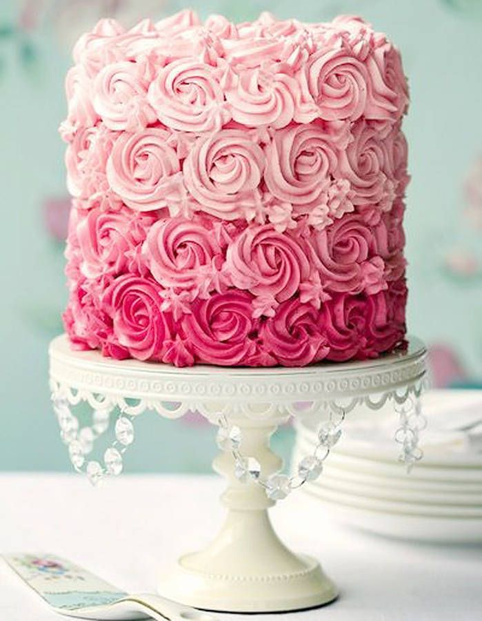 Rose cake ombre