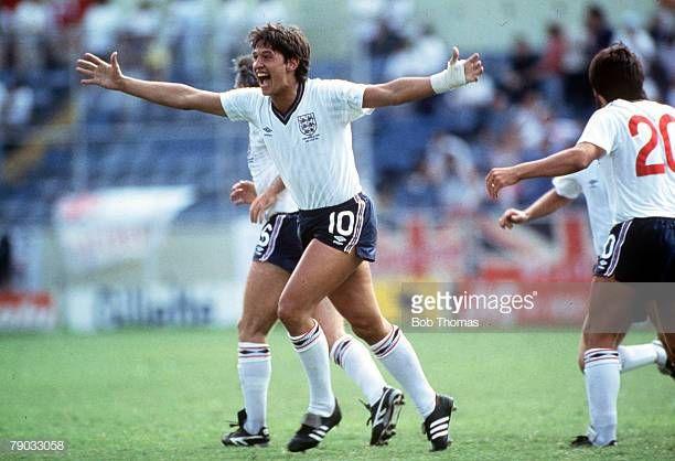 World Cup Finals Monterrey Mexico 11th June England 3 V Poland 0 England S Hattrick Hero Gary Lineker Celebrates After S World Cup Final Gary Lineker World Cup