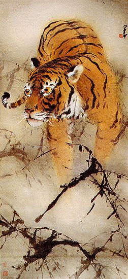 Chao Shao-An, one of the modern chinese painters of Lingnan school that combines traditional and western painting styles
