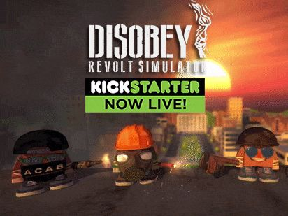 Disobey – Revolt Simulator Campaign is now live on #Kickstarter XXXXXX.   When we started to work to Disobey we knew that it would have been impossible to realize the game alone. We have always known that one day we would have asked help to someone.  So, we decided to ask directly to the community.   So don't miss the opportunity and SPREAD THE WORD!   #DisobeyTheGame #indiedev #indiegame #unity3d #gamedev #newindiegame #Kickstarter2016