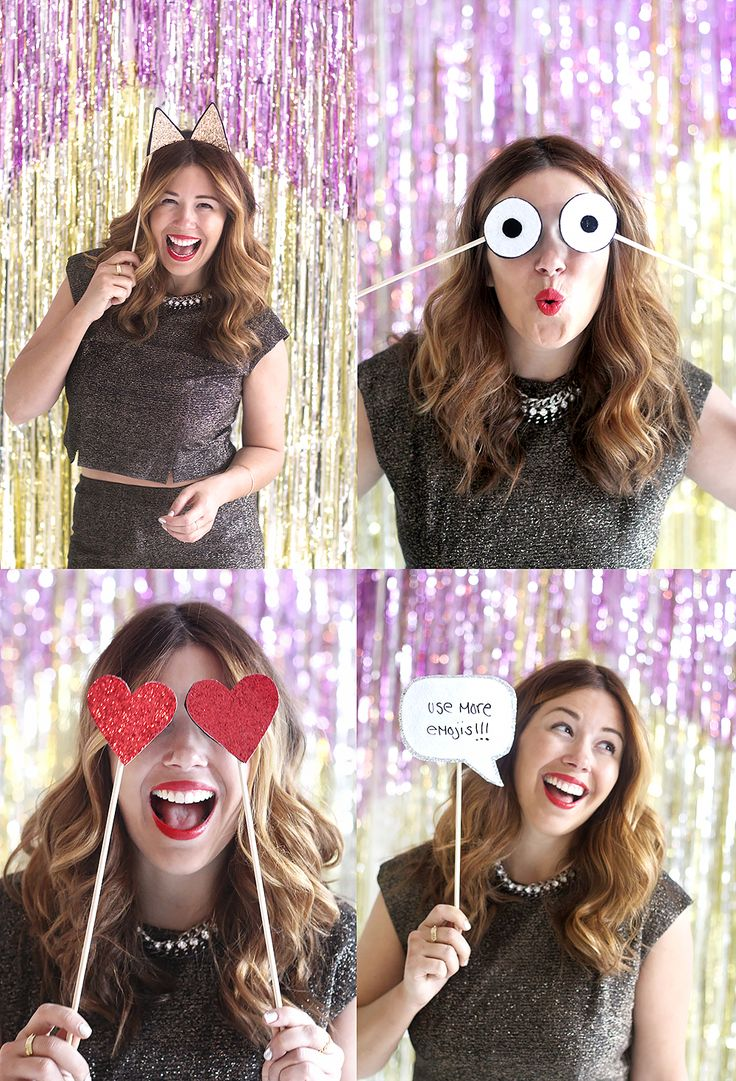 Emoji photobooth props to add some flare to your photo!