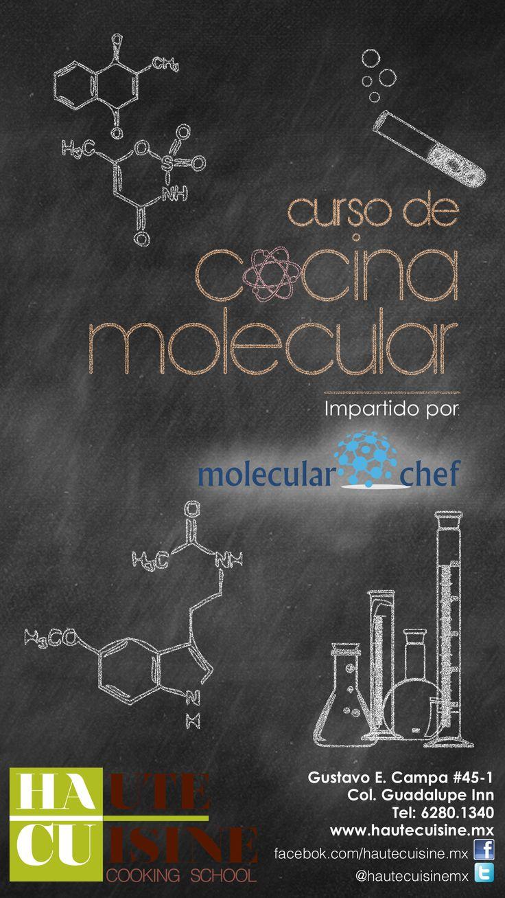 """¿Ciencia y tecnología en la cocina? Curso de """"Cocina Molecular"""" impartido por nuestros amigos de Molecular Chef 11, 12 y 13 de abril 10:00 AM a 2:00 PM Info: contacto@hautecuisine.mx Tel:62801340"""