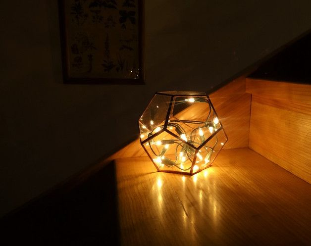 Szklane terrarium – Dodecahedron - GlassWoodMe - Doniczki