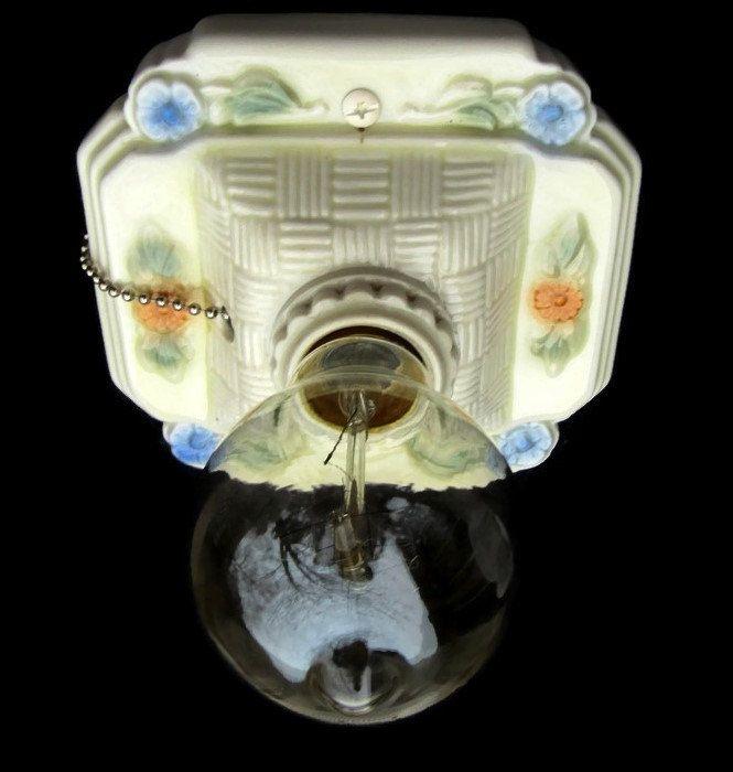 retro bath light porcelain new sockets ceramic pull chain bathroom