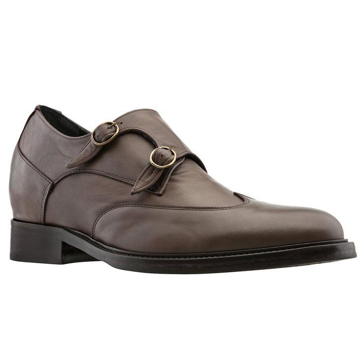 Elevator Double Monk Strap Shoes : Ostuni  | Elevator shoes, height increasing shoes,mens shoes, men's shoes,men shoes, shoes,shoes for men, shoes,Tuxedo Shoes,tuxedo