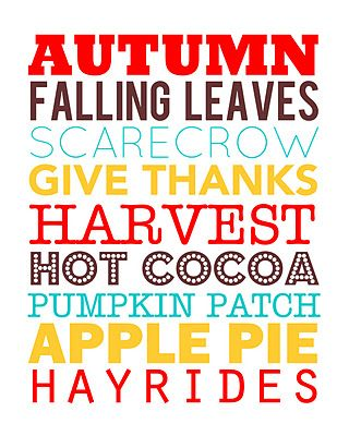 Fall subway art printable