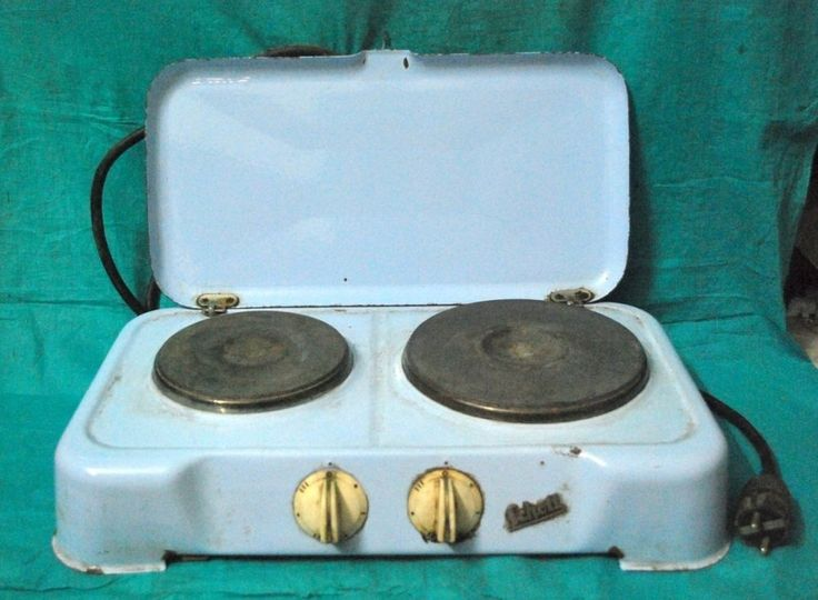 Vintage Old Schott 2 Burner Electric Hotplate Kitchenware