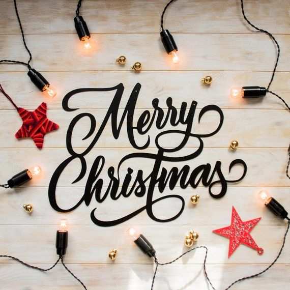Our Words Merry Christmas Metal Sign Is A Modern And Stylish Wall Art Piece It Is Perfect For Decorating Christmas Wall Art Christmas Wall Decor Word Wall Art