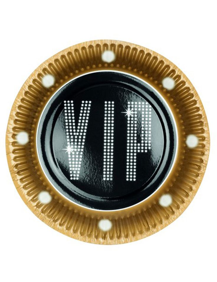 6 Piatti di carta VIP 23 cm su VegaooParty, negozio di articoli per feste. Scopri il maggior catalogo di addobbi e decorazioni per feste del web,  sempre al miglior prezzo!