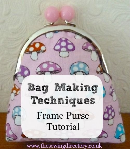 Framed purse tutorial #sewingdirectory