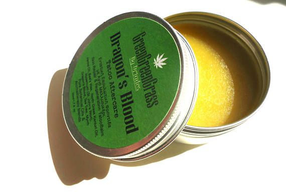 Tattoo aftercare balm. All natural, pure hemp oil and beeswax ointment. Soothing and colour reviving for old and new tattoos.  #Handmade by #Driades #tattoos #tattoo #tattoed #tatuagem #tattooidea #naturalskincare #tattoocream #tattooaftercare #hempoil #hemp #bees #inkedbabes #inked #tattoolotion #tattoocare #tattooedskincare #oliveoilcream #etsyfinds #etsy #etsyshop #