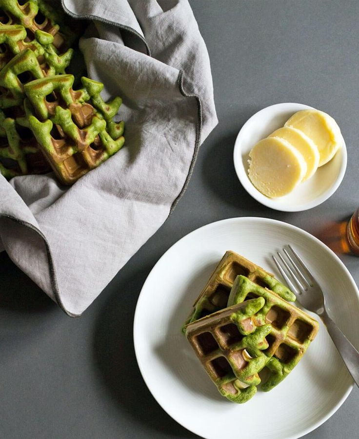 Matcha (Green Tea) Waffles