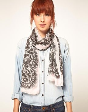 ASOS Moschino Cheap & Chic Lace Scarf $214.86