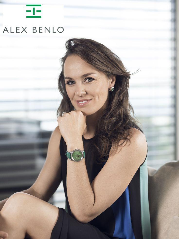 Ambassador of Alex Benlo # Martina Hingis # Swiss watch# Be Proud # Tennis # Woman # Marble Watch # AlexBenlo #