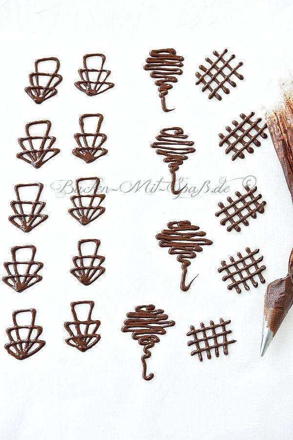 Schokoladen Ornamente Rezept Rezept Schokoladenkuchen Dekoration Torten Dekorieren Schokolade Schoko Deko