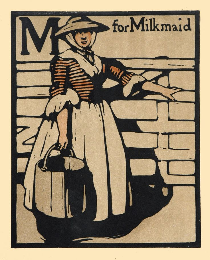 William Nicholson M for Milkmaid