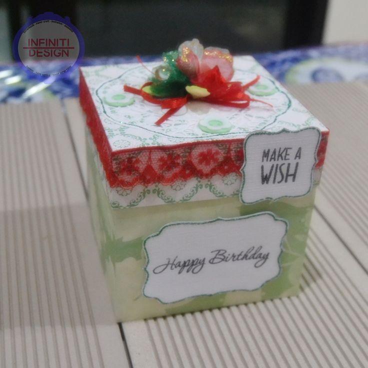 "a birthday exploding box using DCWV ""Primrose"" stack"