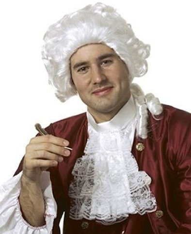 White Wig - Powdered Wig Style. Not the most inspiring of costume wigs ...