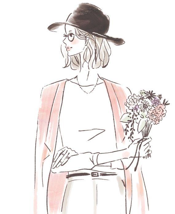 イラストレーター Miya 女性向けイラスト ファッションイラスト おしゃれ 女性 イラスト イラスト おしゃれ 線画 女の子