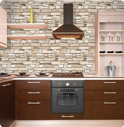 Just Peel and Stick Faux Brick Stone Wallpaper Contact