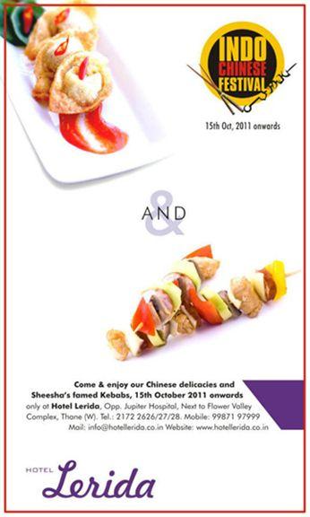 Hotel Lerida - Indo Chinese Festival - Press Ad