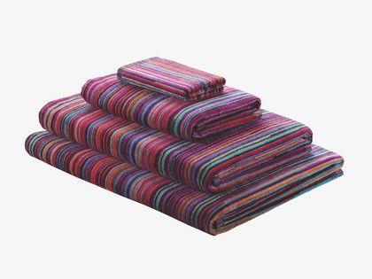 SHADI MULTI-COLOURED Cotton Multi-coloured stripe bath sheet - HabitatUK