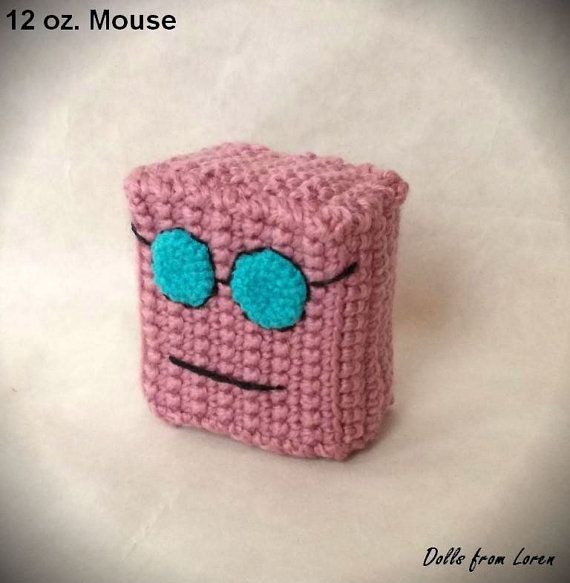 Rectangular Businessman 12 oz. Mouse Crochet Toy 12 by LorensDolls