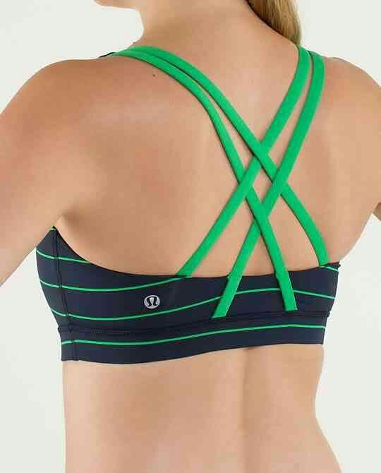 lululemon energy bra slalom stripe inkwell green bean workout