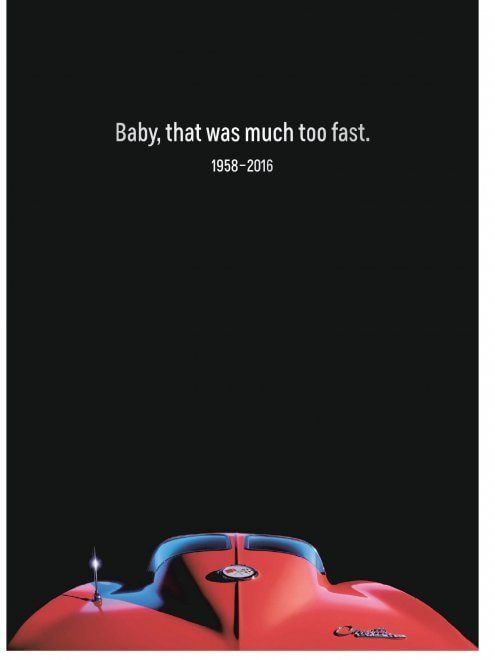 ''Baby you're much too fast'', (Baby andavi troppo veloce), cantava Prince nella sua Little Red Corvette, incisa nel 1982. L'azienda