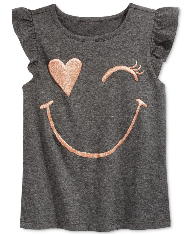 Epic Threads Little Girls' Graphic-Print Flutter-Sleeve T-Shirt, Only at Macy's