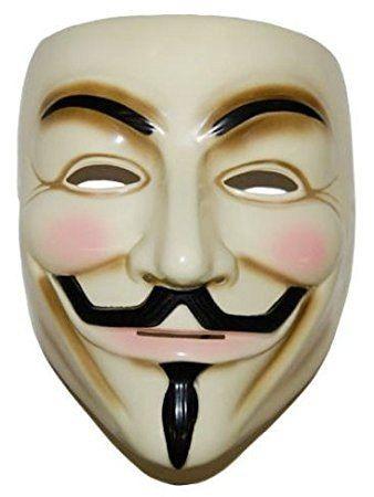 Máscara V For Vendetta Original Deluxe + Livro #  Anonimous - R$ 134,99