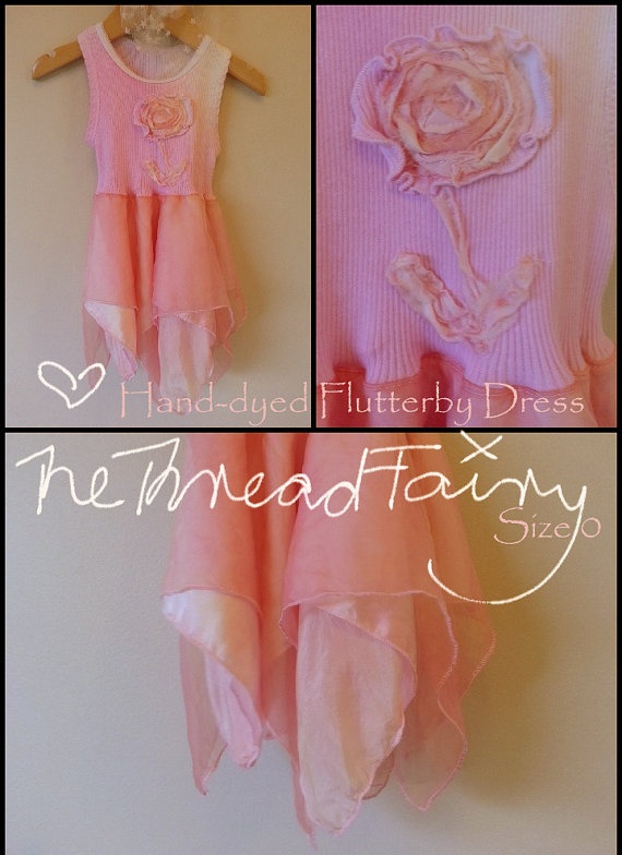 Unqiue Flutterby Dress beautifully crafted by thethreadfairy, $45.00