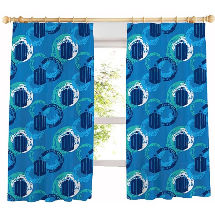 doctor who time traveller curtain 66x54 official amazoncouk - Dr Who Bedroom Ideas