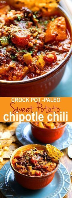 Clean Eating Crock Pot Sweet Potato Chipotle Chili Recipe